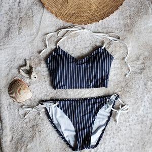 ❤💙⚓Tommy Hilfiger blue and white stripe bikini